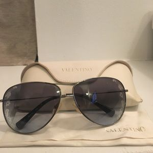 Valentino Aviator Sunglasses with Flowers